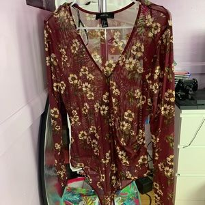 LONG SLEEVE SEXY BODYSUIT SZ 2X BY FOREVER 21